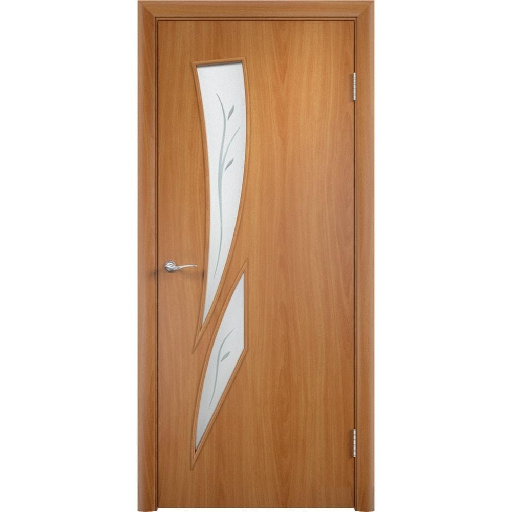Ламинированные двери Стрелиция миланский орех со стеклом фьюзинг streliciya-pof-milan-oreh-dvertsov-min.jpg