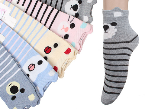F915 носки женские 37-41, цветные