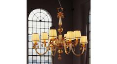 Italamp 440 4+4 Ivory Amber OA Sw Light Topaz — Потолочный подвесной светильник
