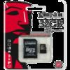 Карта памяти Kingston MicroSD (Class 10) 32gb + адаптер
