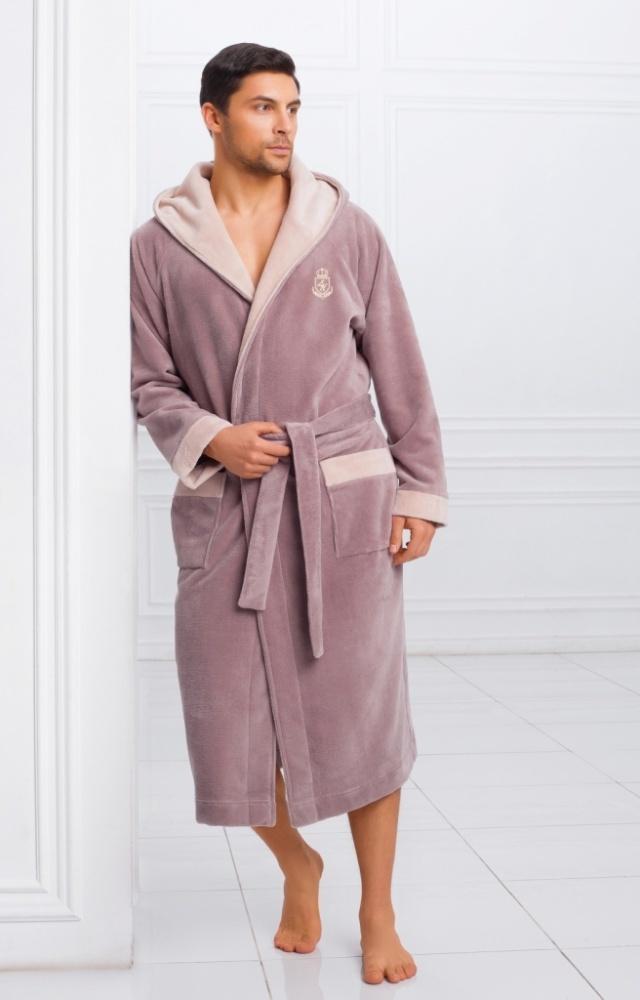 Халаты мужские Мужской бамбуковый халат с капюшоном 11008-1 Laete Турция 11008-1.jpeg
