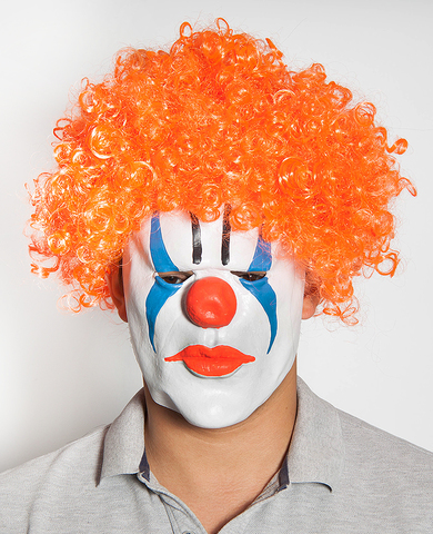 Маска Клоун оранжевый