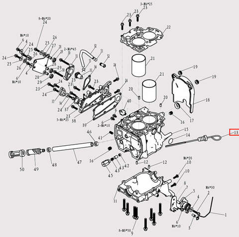 Масляный щуп для лодочного мотора F9.8 Sea-PRO (3-13)