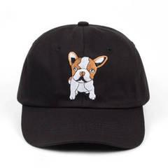 Кепка с щенком черная (Бейсболка с щенком черная)