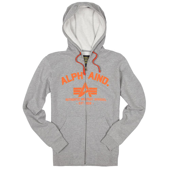Толстовка Brooks Alpha Industries (серая - h.grey)