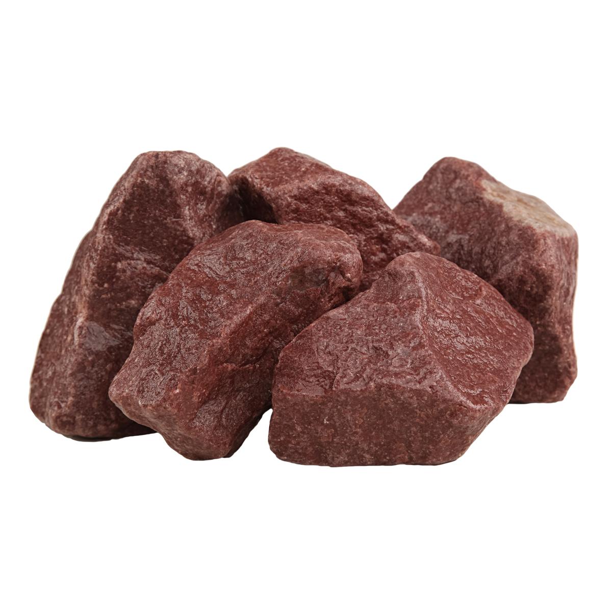 Малиновый кварцит обвалованный для каменки