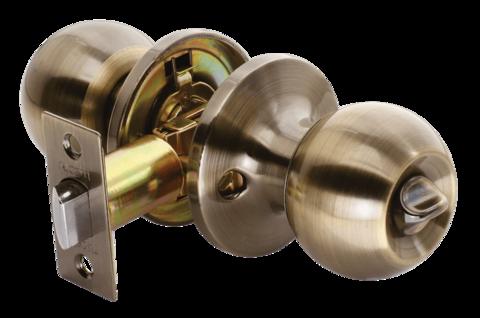 Фурнитура - Ручка-Шар с завёрткой Rucetti HK-01 WC, цвет бронза античная