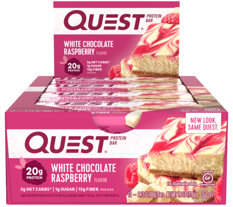 Quest Nutrition Quest Protein Bar Raspberry & White Chocolate (Малина в белом шоколаде), 12 шт