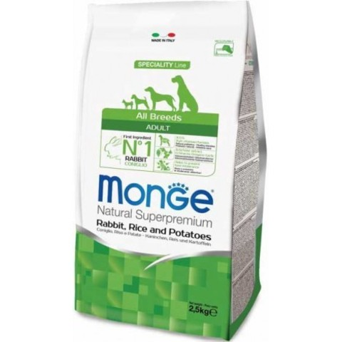 MONGE ADULT ALL BREED WITH RABBIT 15 кг
