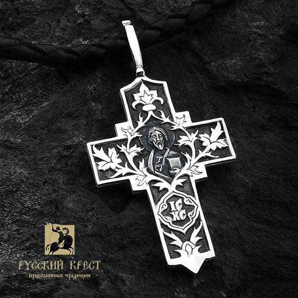 Крестик нательный серебро Господь Вседержитель