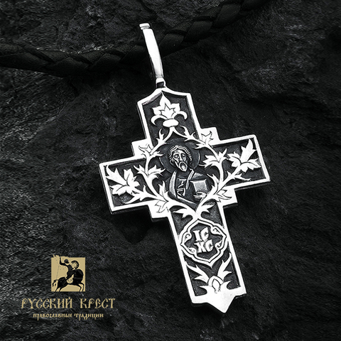 Крест серебряный Господь Вседержитель.