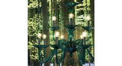 Italamp 323 8+4 Green C — Потолочный подвесной светильник