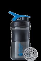 BlenderBottle SportMixer, Универсальная Спортивная бутылка-шейкер с венчиком.  Black-Cyan-черный-бирюзовый 591 мл