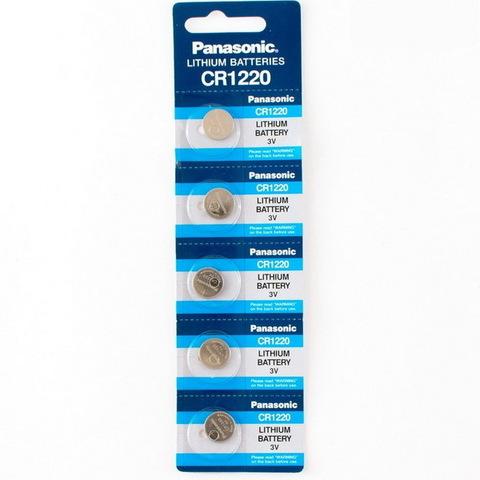 Батарейки литиевые Panasonic CR 1220 BL5