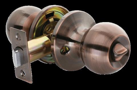 Фурнитура - Ручка-Шар с завёрткой Rucetti HK-01 WC, цвет медь античная