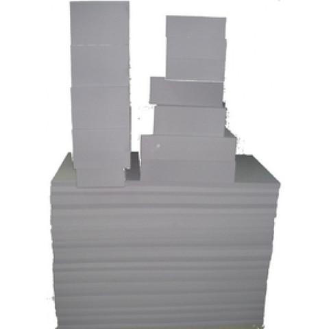 коробка 100cm x 50cm x 50cm с обрезками из меламина BASOTECT