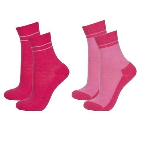 Детские шерстяные носки Janus цвет малиновый