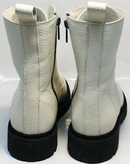 Белые ботинки на шнуровке с мехом женские Ari Andano 740 Milk Black.