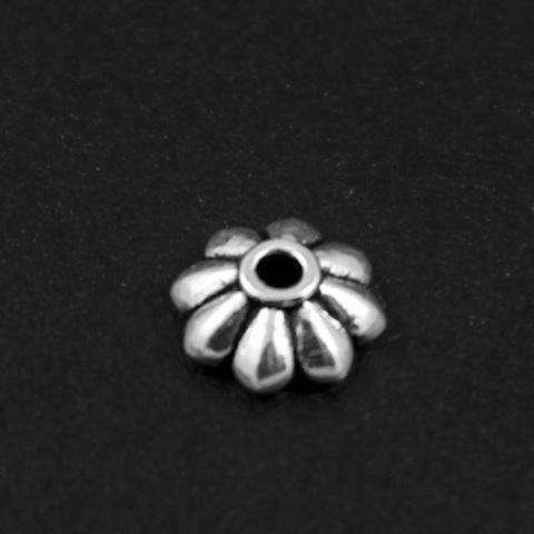 Шапочка Офелия 7 мм серебро 925 1 шт