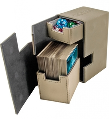 Ultimate Guard - Кожаная коробочка песочного цвета с отделением для кубиков