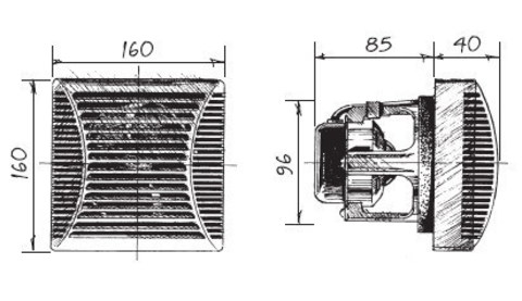 Blauberg Brise 100 Platinum (серебристый металлик) Накладной вентилятор