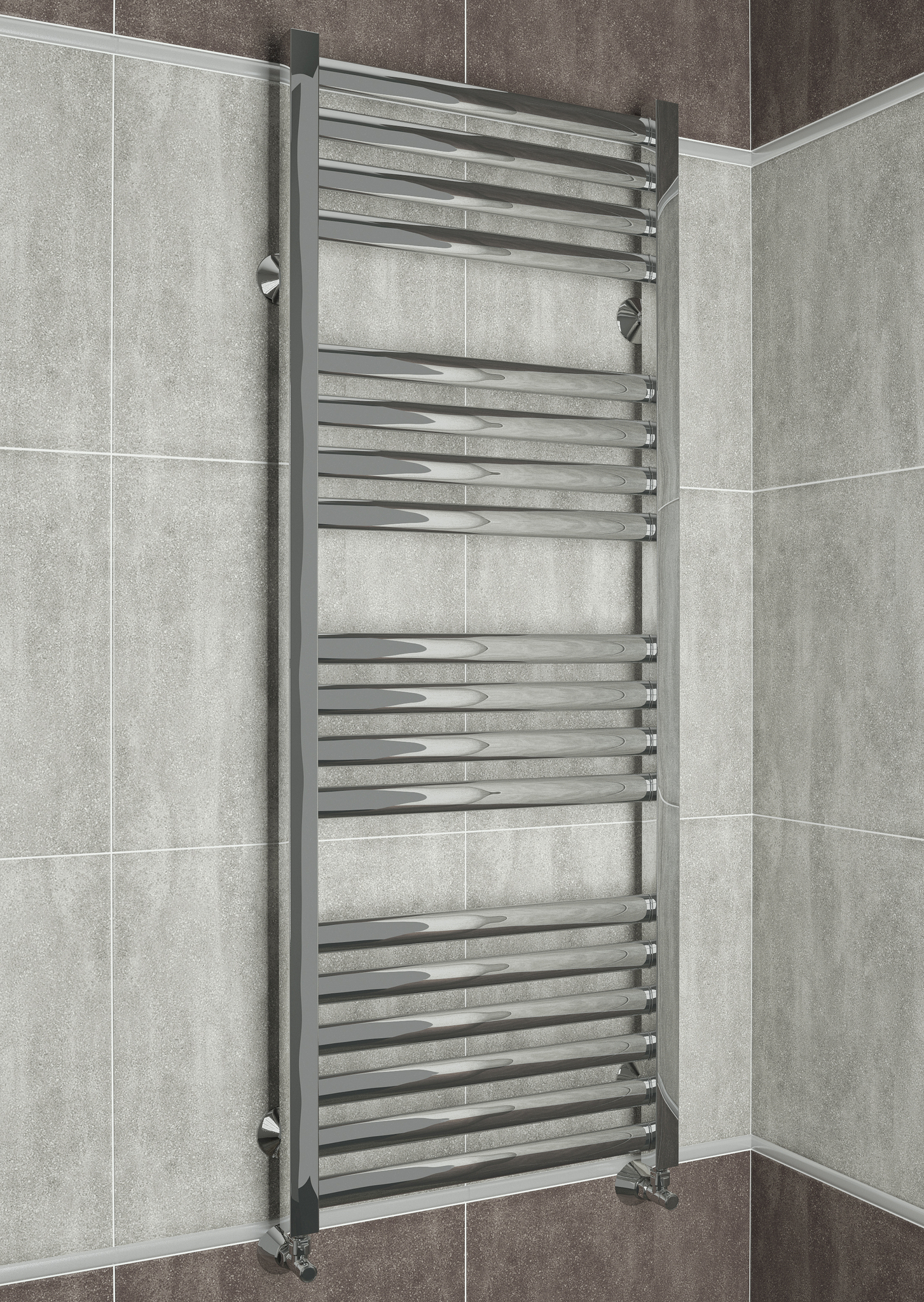 Greta  - водяной дизайн полотенцесушитель с квадратными вертикалями.