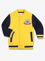BAC004868 Пиджак для мальчиков, желтый-тем.синий