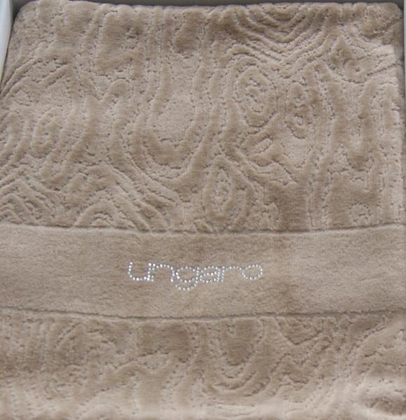 Набор полотенец 2 шт Emanuel Ungaro Diamante со стразами Swarovcki коричневый