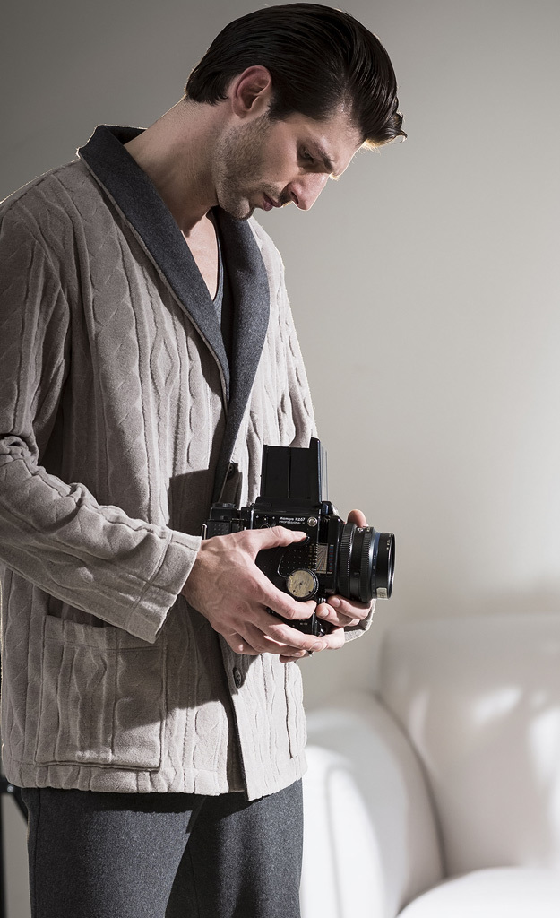 Мужской домашний кардиган на пуговицах Julipet (Мужские халаты)