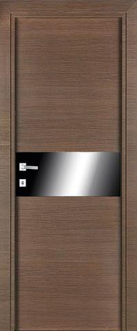 > Экошпон Profil Doors № 4 Z, стекло чёрный лак, цвет венге кроскут, остекленная