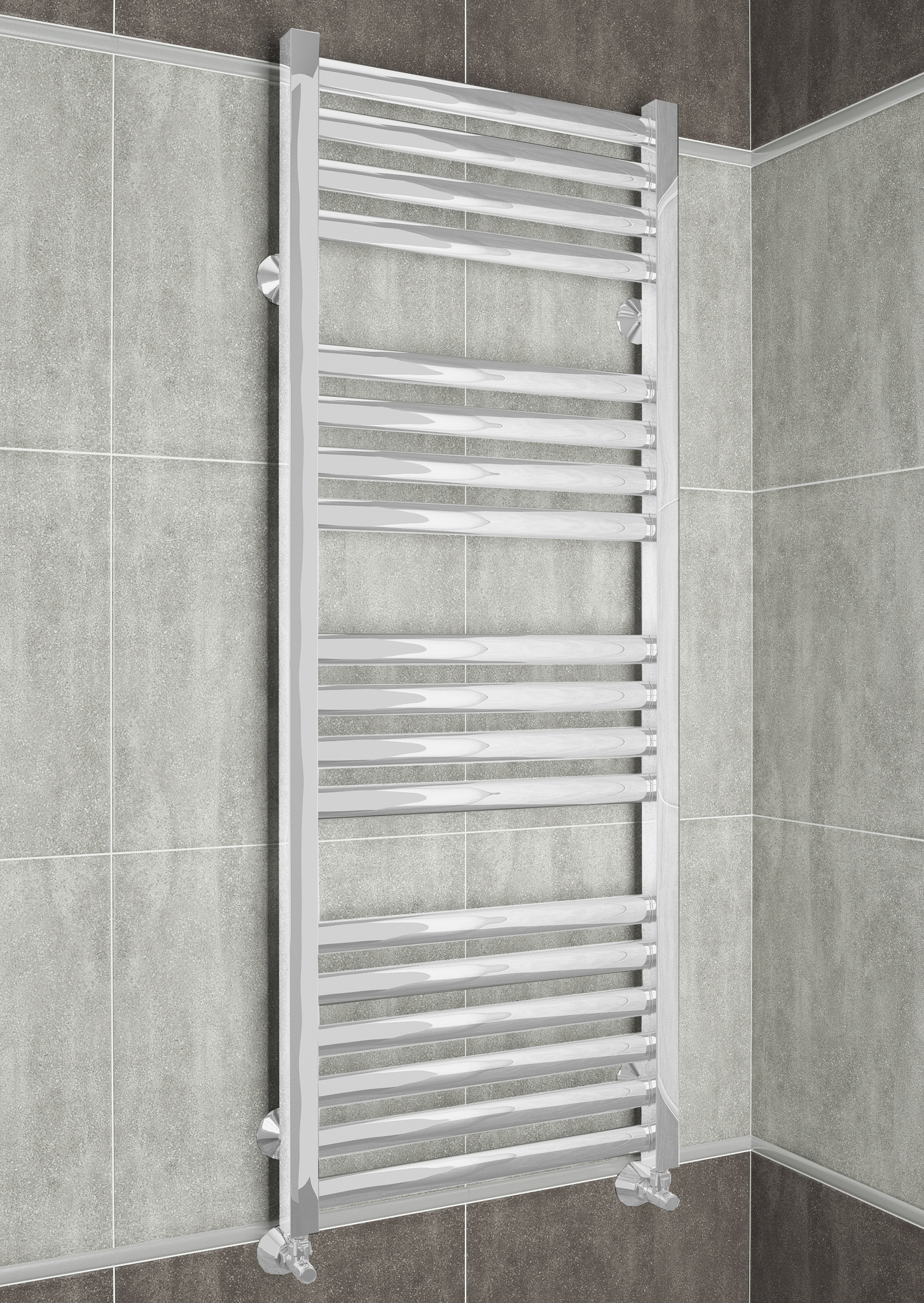 Greta  - водяной дизайн полотенцесушитель белого цвета.