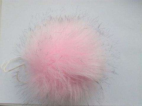 Помпон искусственный светло-розовый