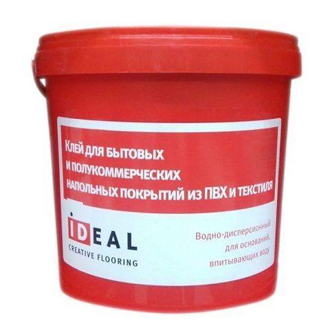 Клей Ideal для быт. и полукоммерч. напольных покрытий из пвх и текстиля 10л (14 кг)