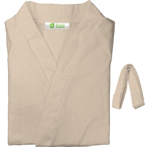 Вафельный халат размер М-XXL, 3 цвета