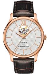 Мужские швейцарские часы Tissot T063.907.36.038.00 Tradition Powermatic 80 Open Heart