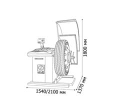 Балансировочный станок TRUCKER Standard СБМП-200Ст