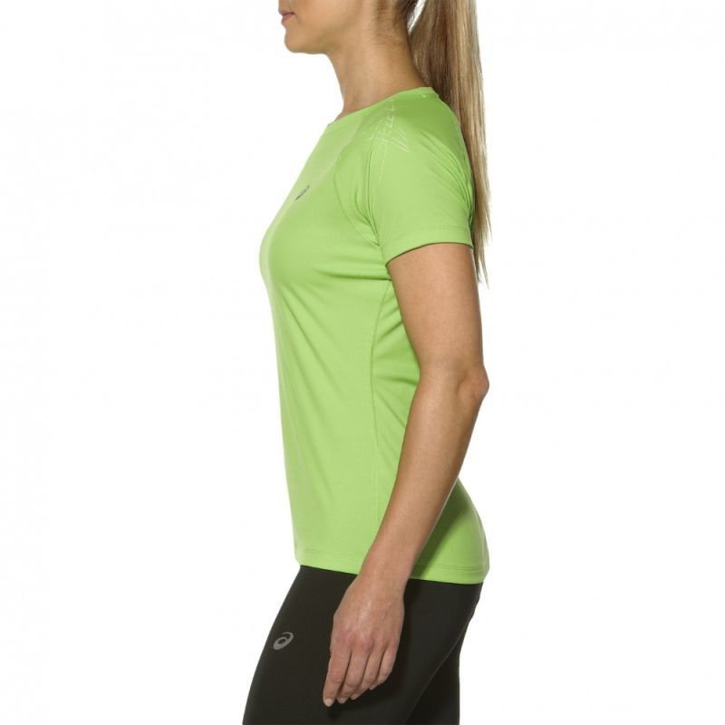 Женская спортивная беговая футболка Asics Stripe SS Top (126232 0473) салатовая