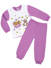 PJ602D-1 пижама для девочек, белая