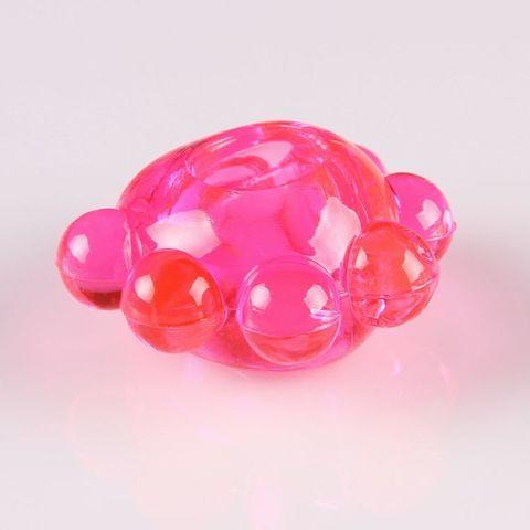 Розовое эрекционное колечко  Цветок