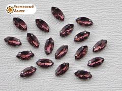 Камень маркиза в цапах 5*10 мм марсаловый