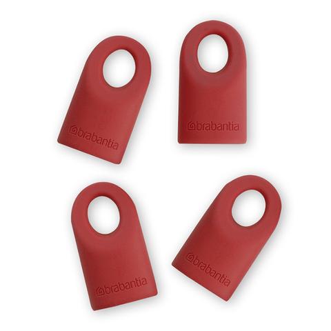 Силиконовые колпачки, 4 шт., Красные, арт. 464003 - фото 1