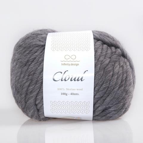 Пряжа Infinity Cloud 0042 серый меланж