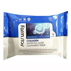 FarmStay Collagen Water Full Moist Cleansing Tissue - Салфетки увлажняющие с коллагеном