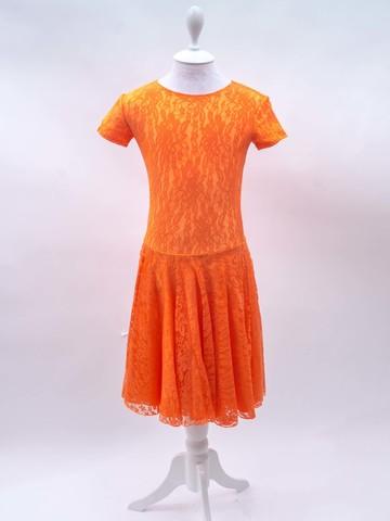 Рейтинговое платье Re6 - бифлекс с гипюром