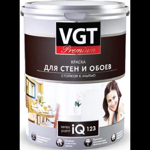 VGT КРАСКА МОЮЩАЯСЯ ДЛЯ СТЕН И ОБОЕВ IQ123