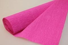 Бумага гофрированная простая светло-малиновый (570), 50 см./250 см.