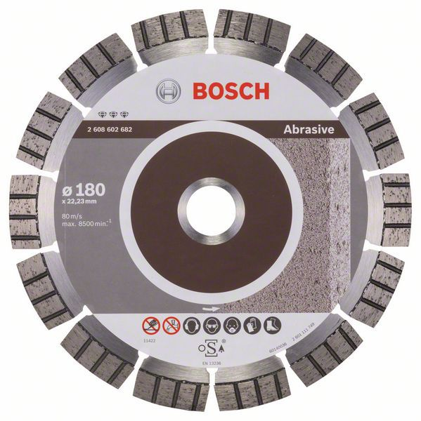 Алмазный диск Best for Abrasive 180-22,23 Bosch 2608602682