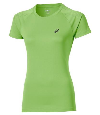 ASICS STRIPE SS TOP женская спортивная футболка салатовая