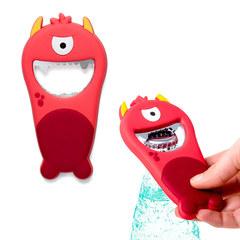 Открывалка Monster красная магнитная