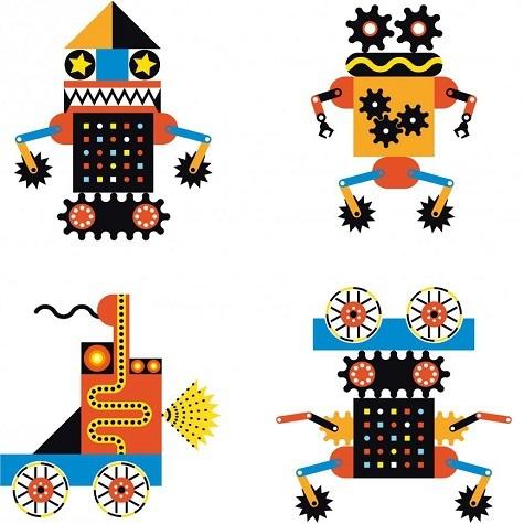 игра робот пазлы